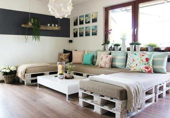 cómo decorar con palets