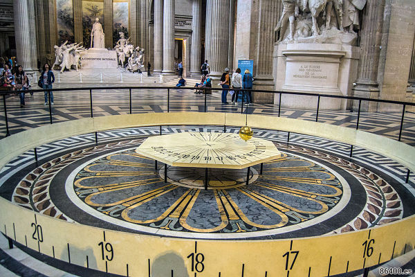 Pendulo de foucault del panteon de paris