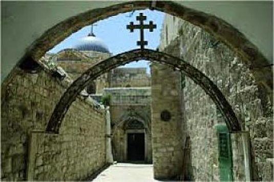 Barrio cristiano en Jerusalen