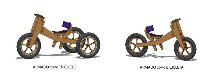 Trikids - prototipo triciclo y bicicleta de aprendizaje para chicos con movilidad reducida