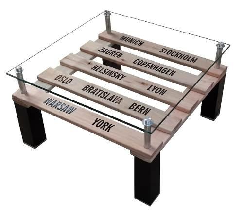 mesa ratona con onda