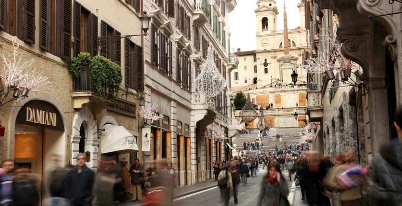 calles comerciales de italia
