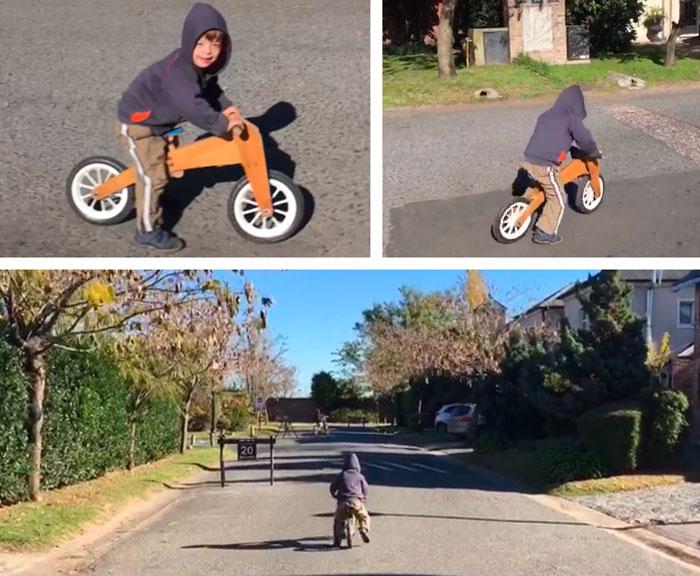 simon y su bicicleta de aprendizaje
