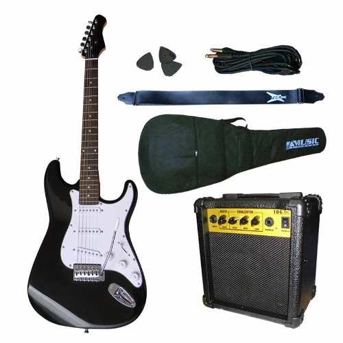 accesorios y amplificador para guitarra