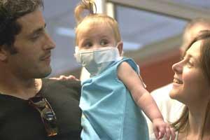 Abril en 2004, al salir del Garrahan recién trasplantada