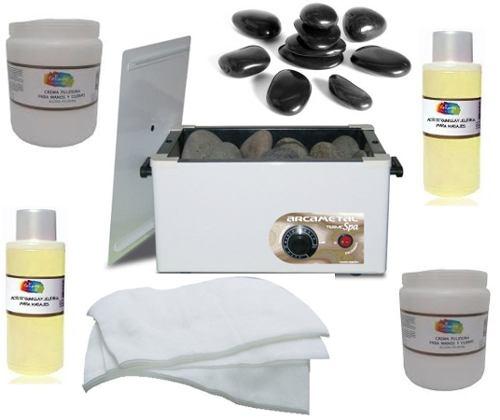 calentador de toallas y piedras