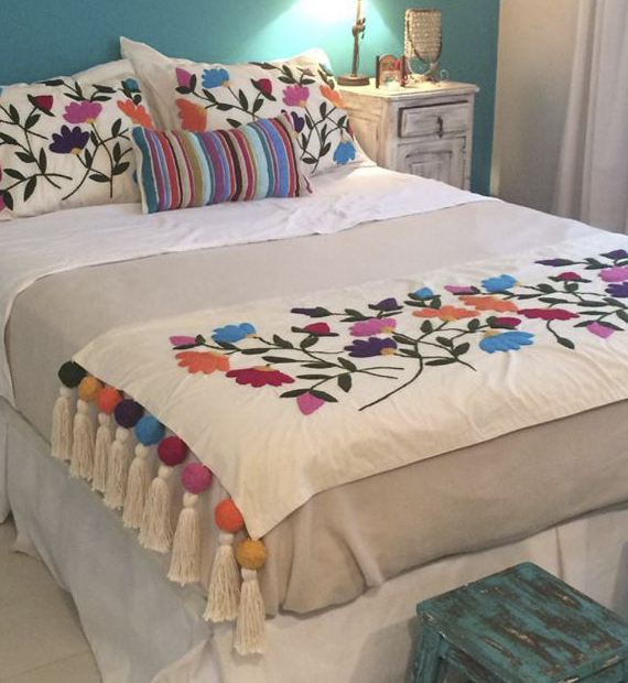 bordados para ropa de cama