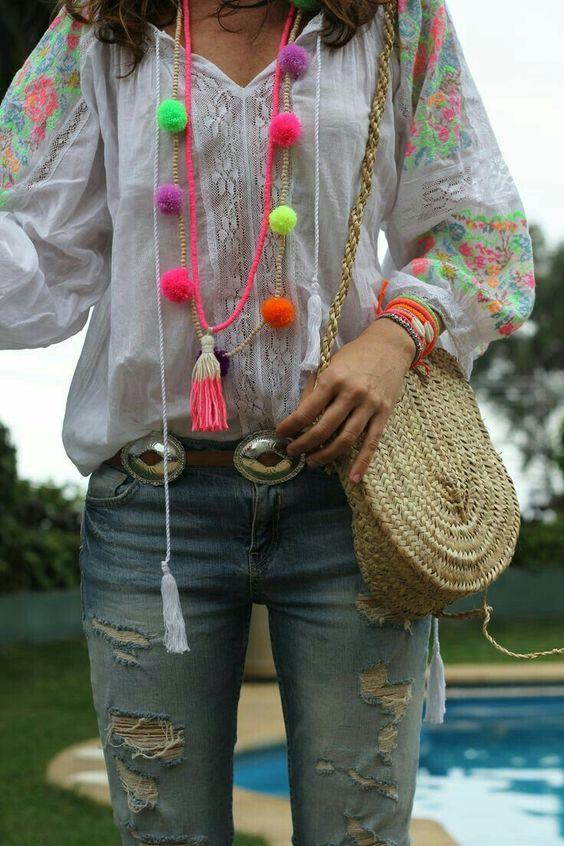 camisolas bordadas