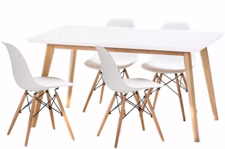 mesa nórdica y sillas nórdicas
