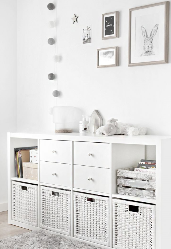 muebles de madera blancos para estilo nórdico