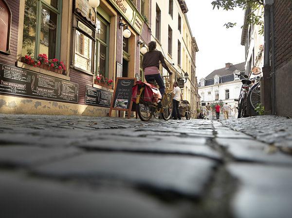 en bicicleta por Gante