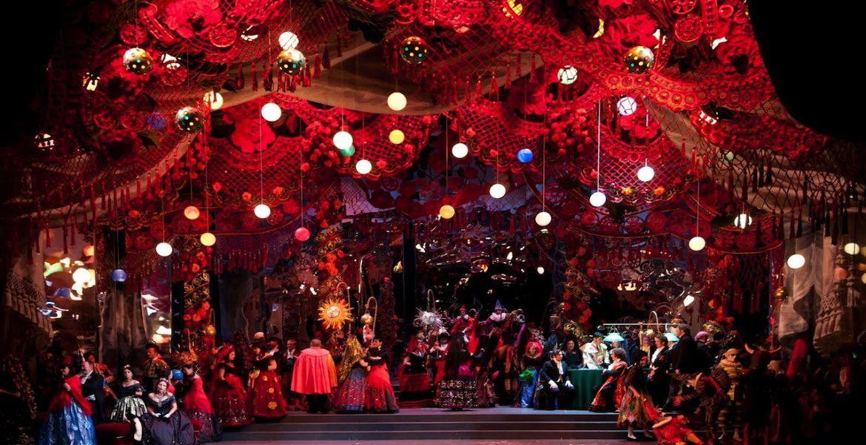 Escena de la ópera La traviata