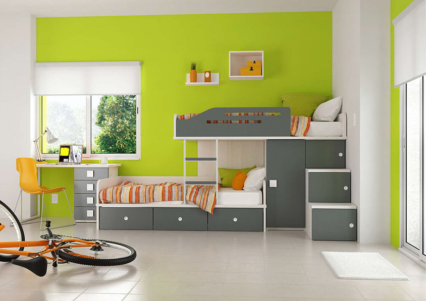 colores para la pared de dormitorio infantil