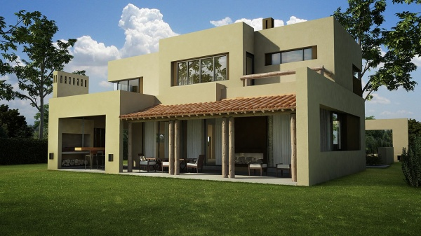 Combinaciones de colores para exteriores de casas buena - Casas color verde ...