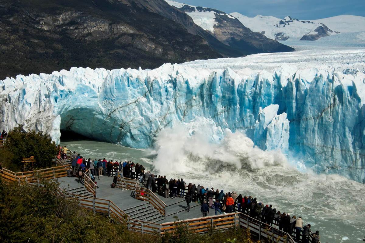 Miralo en Vivo: el Glaciar Perito Moreno inició su proceso