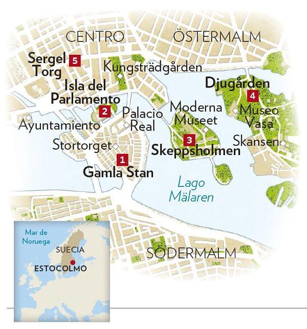 mapa estocolmo
