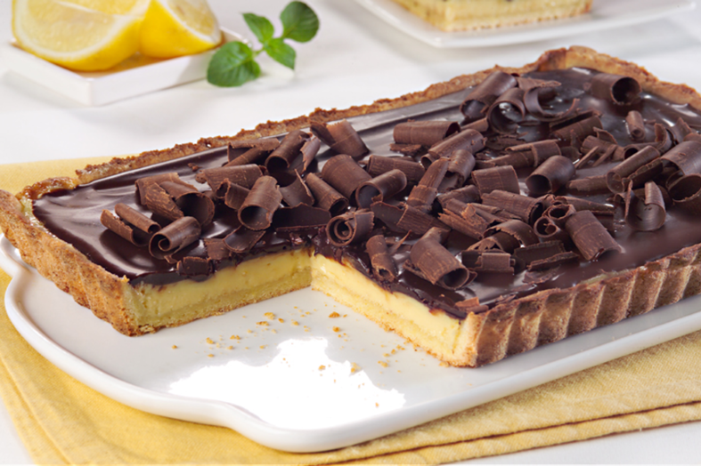 torta de limon con chocolate