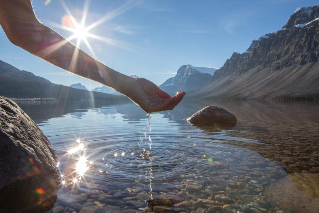 disfrutar el agua