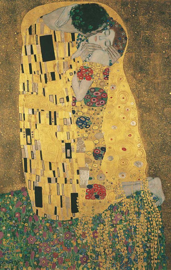 El beso, de Klimt