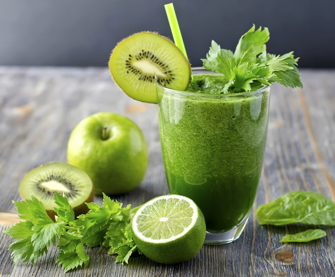 licuado de verduras verdes
