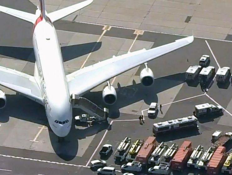 avion en cuarentena en Nueva York