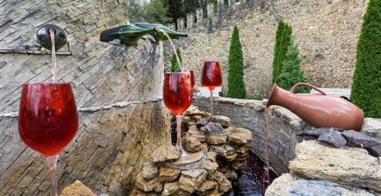 Fuente de vino en Italia