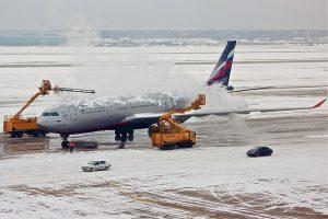acumulación de hielo en un avion