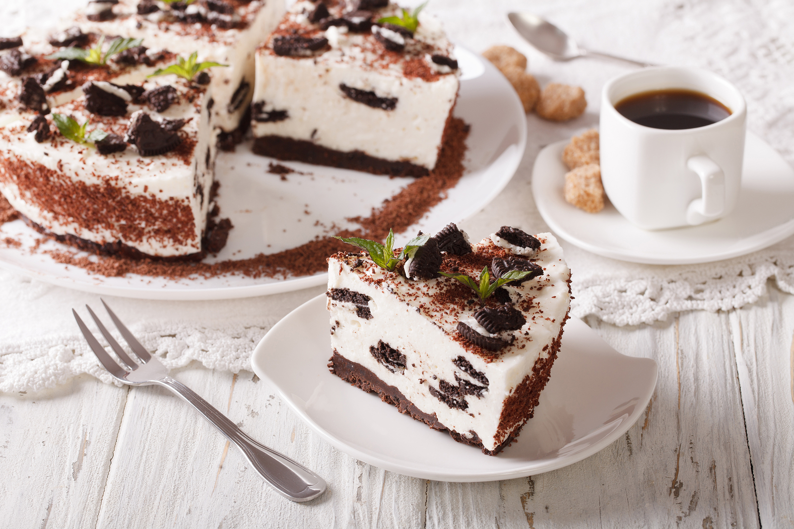 cheesecake de chocolate blanco cocido