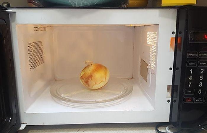 cebolla en el microondas