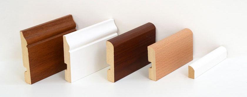 Zócalos de madera para pisos