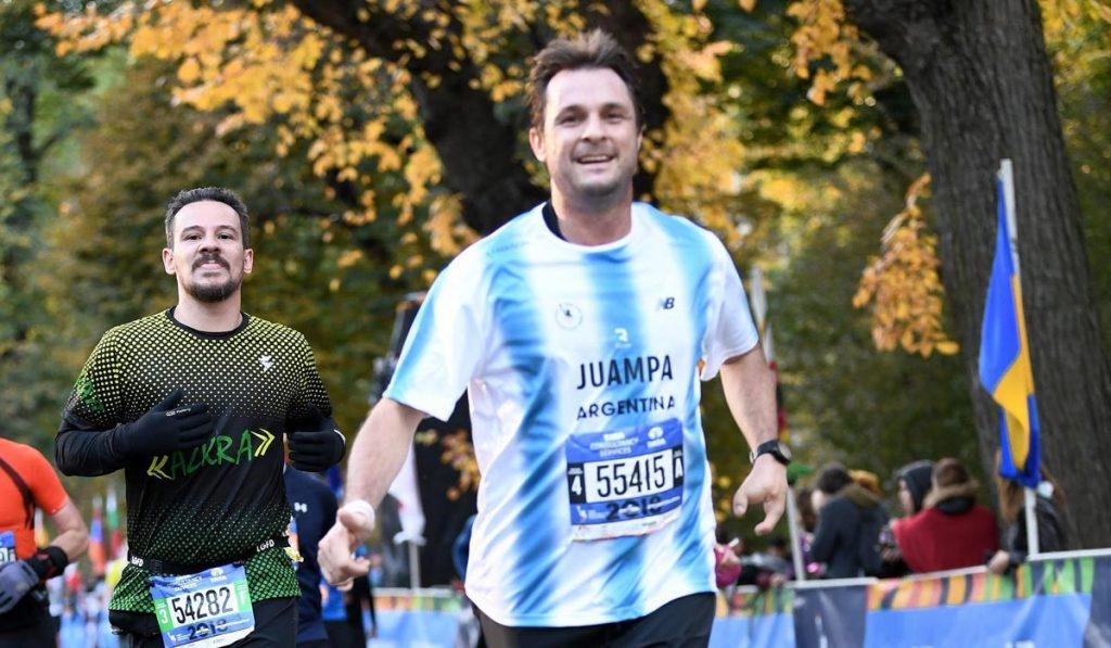 Maratón de Nueva York Sonriendo