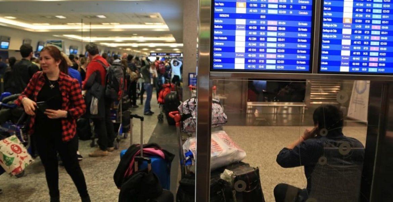 caos en aeropuertos