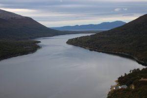 mirador Garibaldi sobre lago escondido