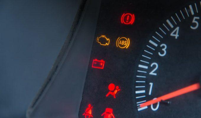 simbolos del tablero del auto