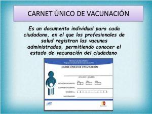 Carnet único de vacunación
