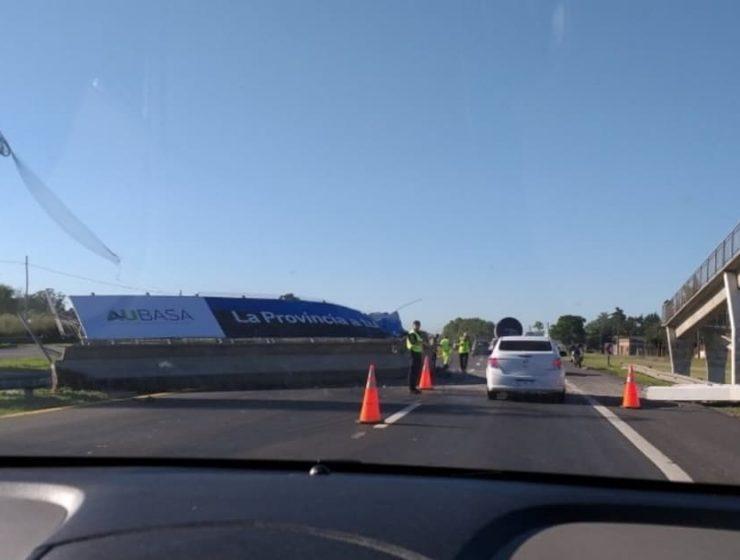 derrumbe puente peatonal ruta 2